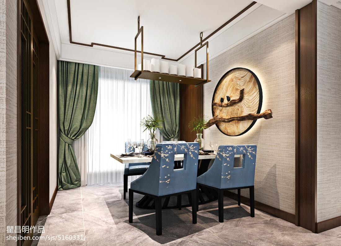 欧洲大理石-餐厅-新中式风格
