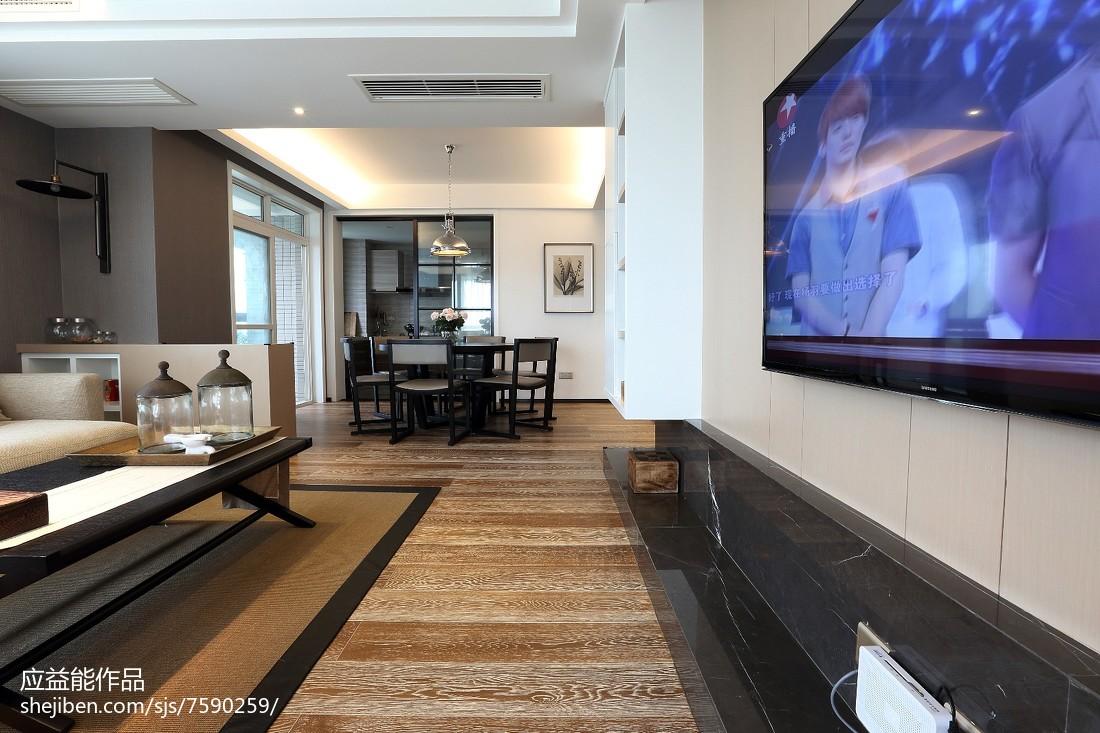 简欧三居客厅装修设计效果图片大全