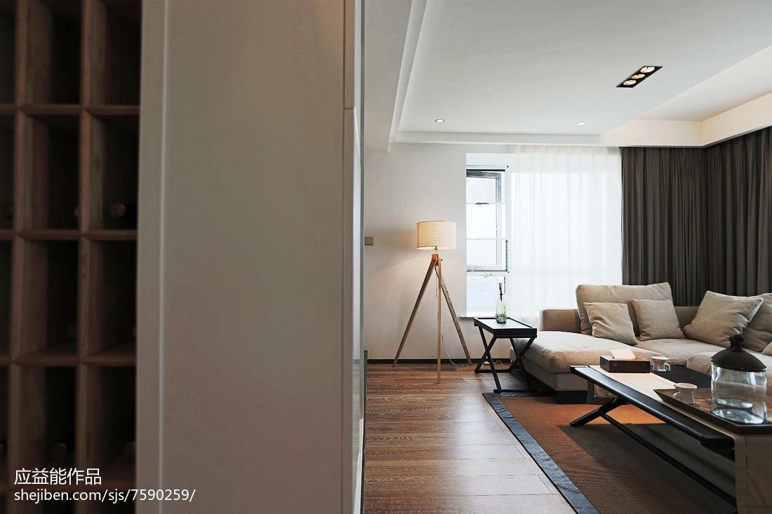 面积101平简欧三居客厅装饰图片