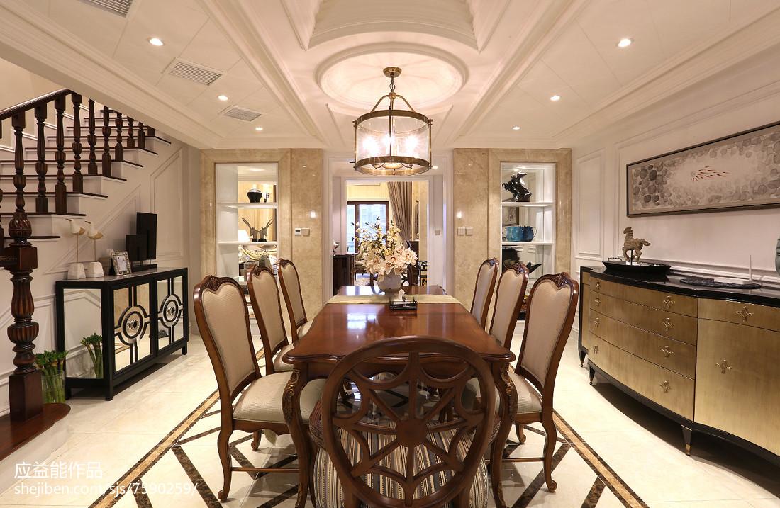 热门138平米欧式别墅餐厅装修实景图片大全