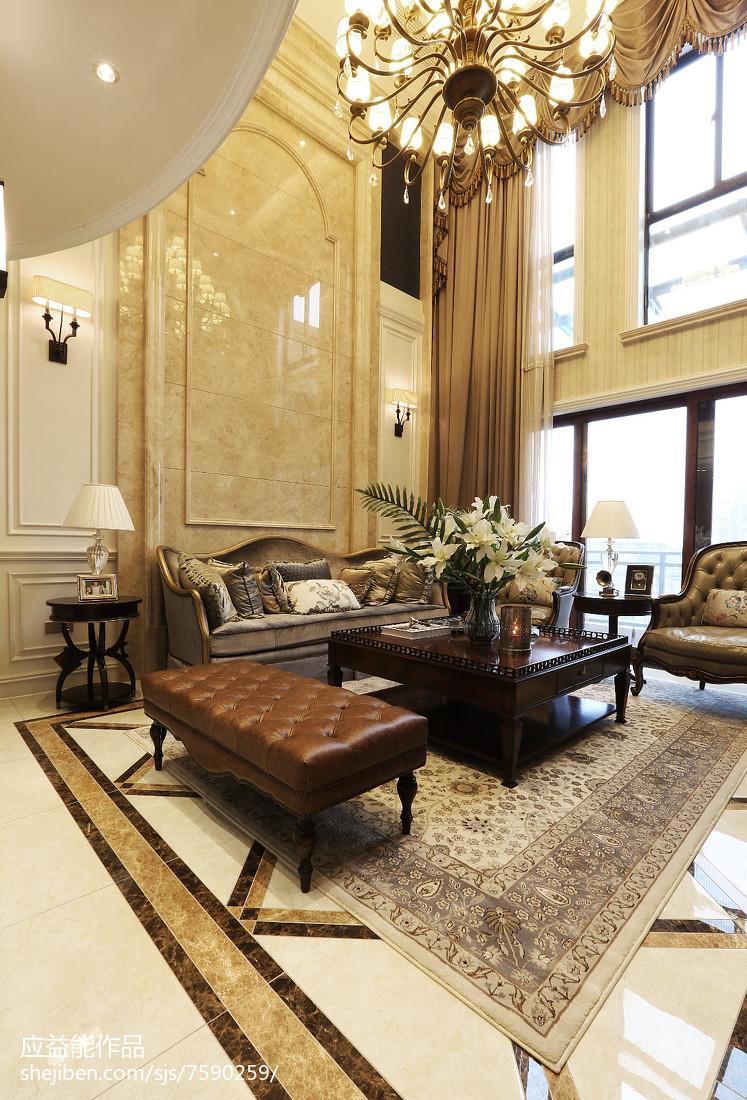 热门面积112平别墅客厅欧式装修设计效果图