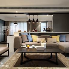 精美面积112平现代四居客厅实景图片