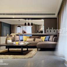 热门面积141平现代四居客厅装修设计效果图片欣赏