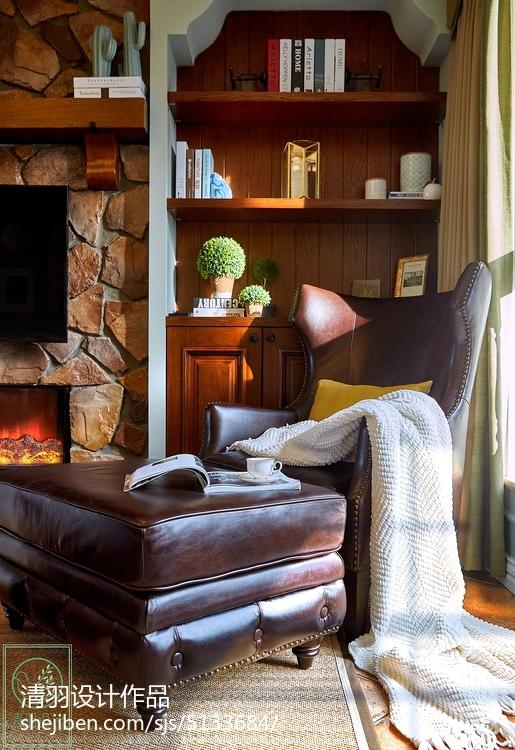 精美73平美式二居客厅装饰美图
