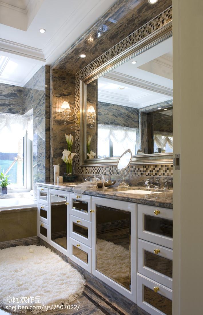 精选面积111平欧式四居卫生间装饰图片