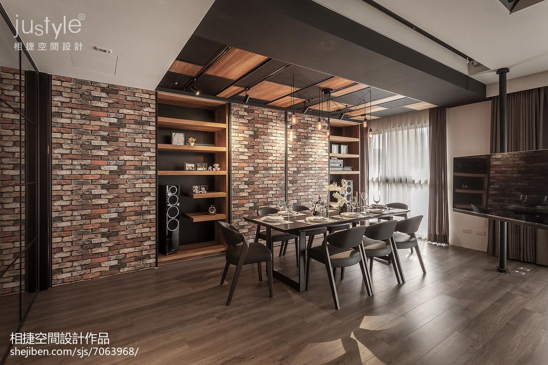 面积139平四居餐厅装修欣赏图片