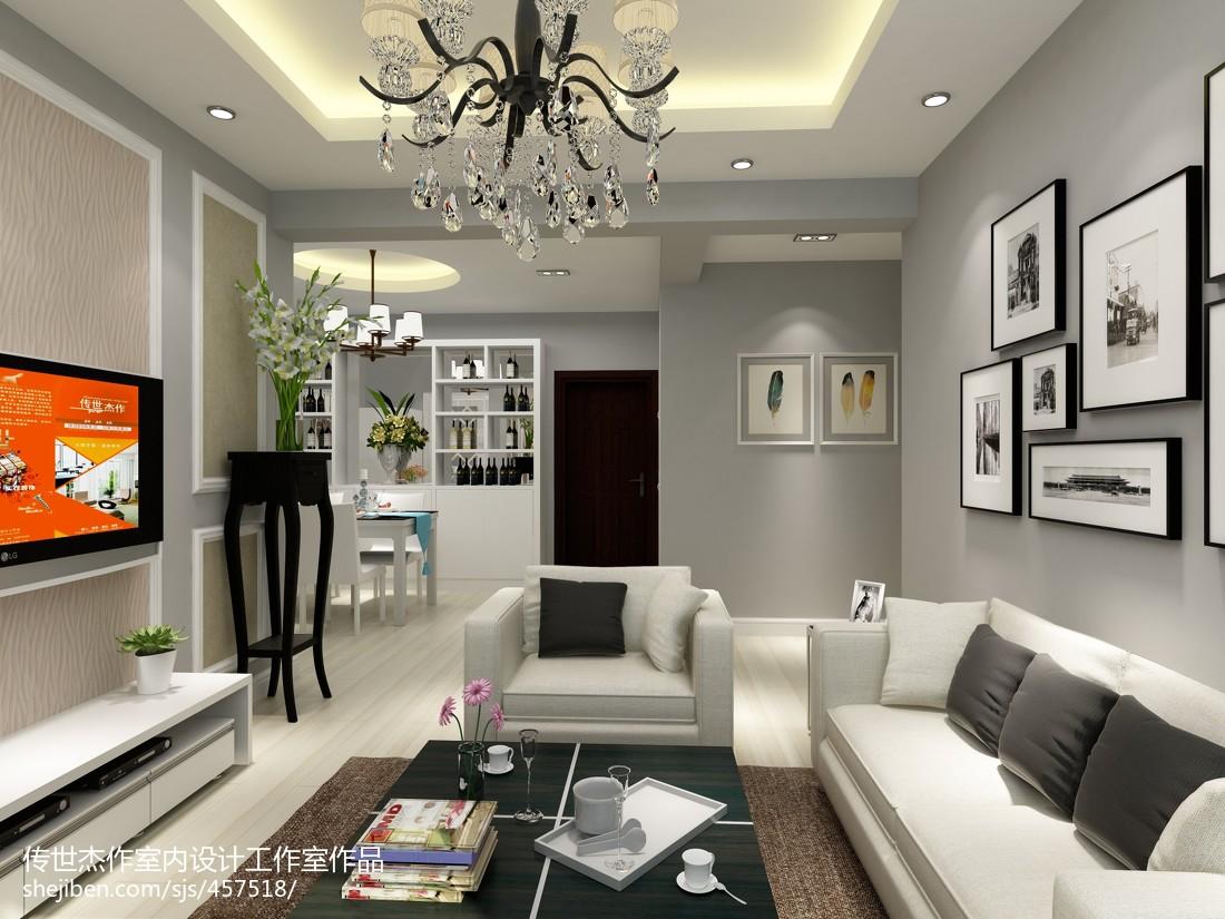 清新潮流家居时尚客厅装修效果图