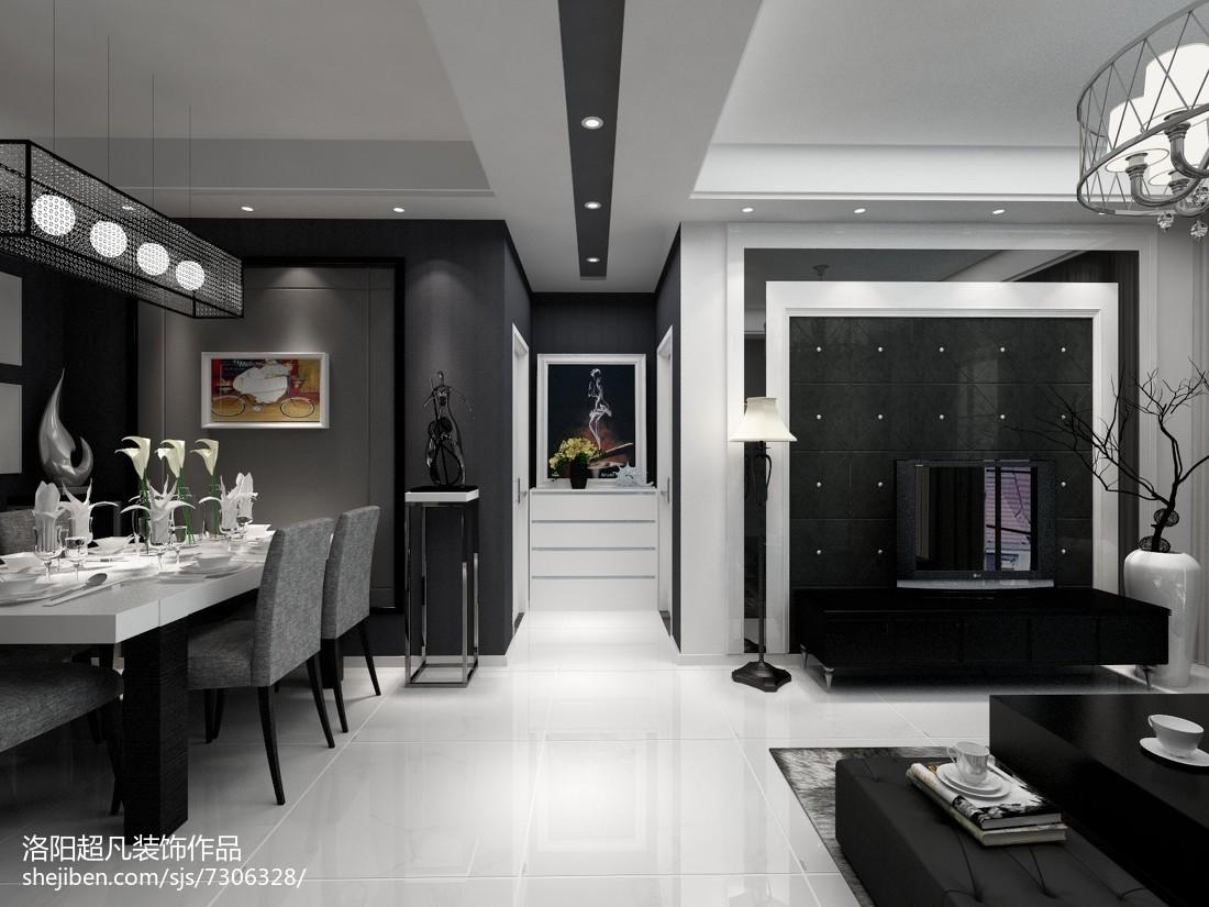 现代二居装修设计效果图片大全