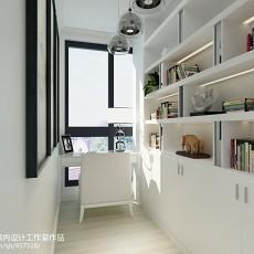 2018精选87平米二居书房现代装修设计效果图片大全