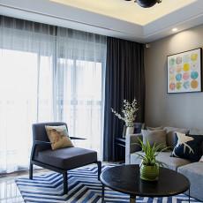 温馨128平现代三居客厅设计美图