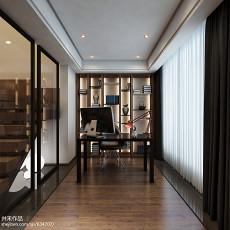 2018简约复式书房装修设计效果图