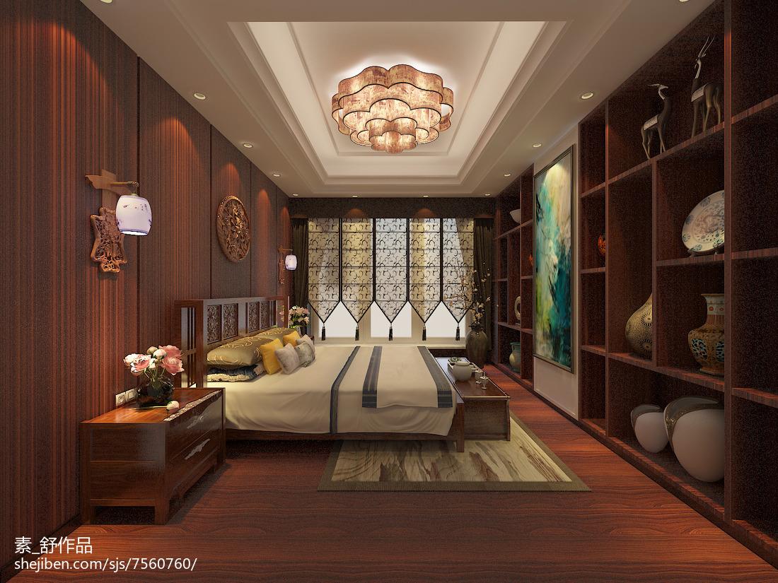 简约美式卧室效果图