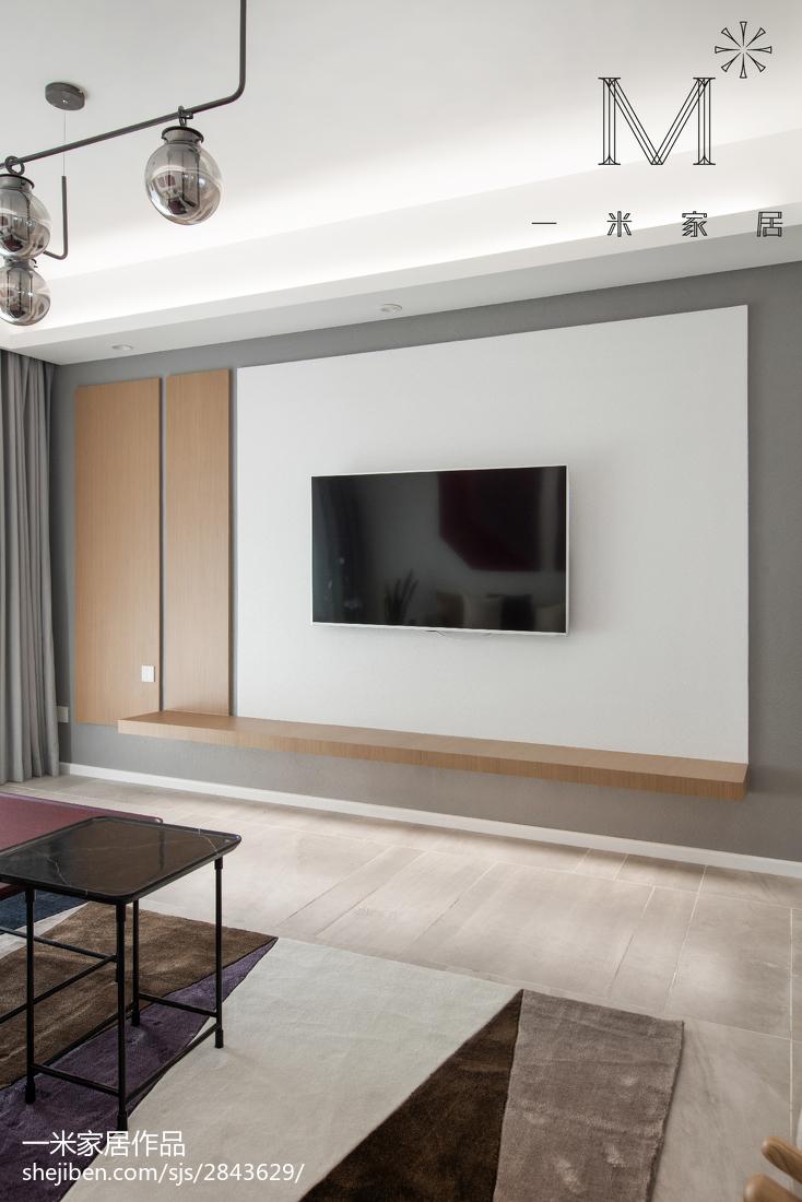 2018精选大小108平北欧三居客厅效果图片欣赏