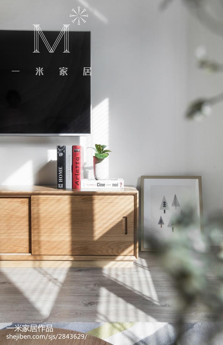 2018精选105平米三居客厅北欧实景图