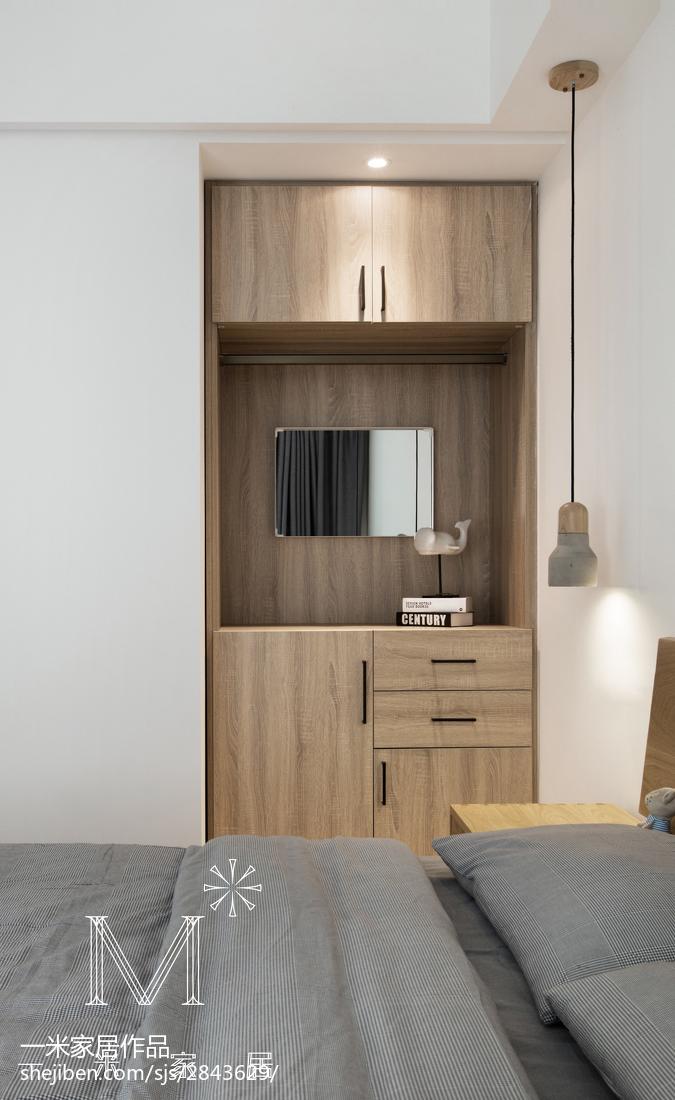 2018三居卧室北欧实景图