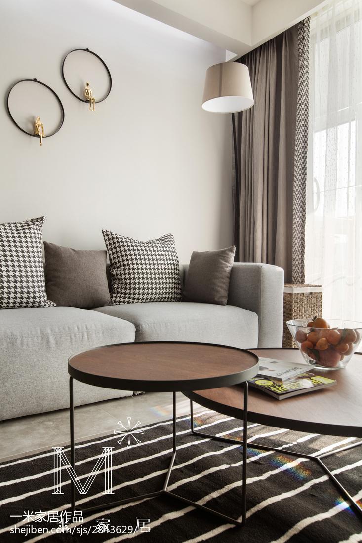 精美面积98平北欧三居客厅装修欣赏图片