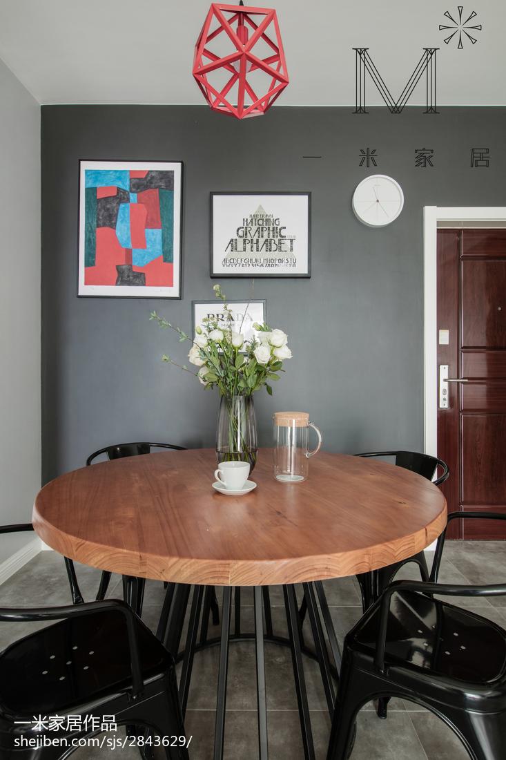 2018精选95平米三居餐厅北欧装修欣赏图