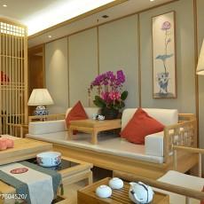 2018精选129平米四居客厅中式装修设计效果图