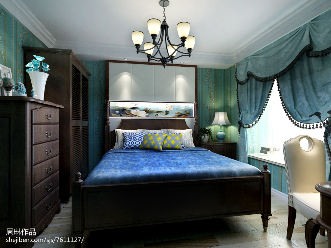 现代简约风卧室装修效果图设计