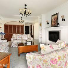 精选100平米三居客厅美式实景图片欣赏