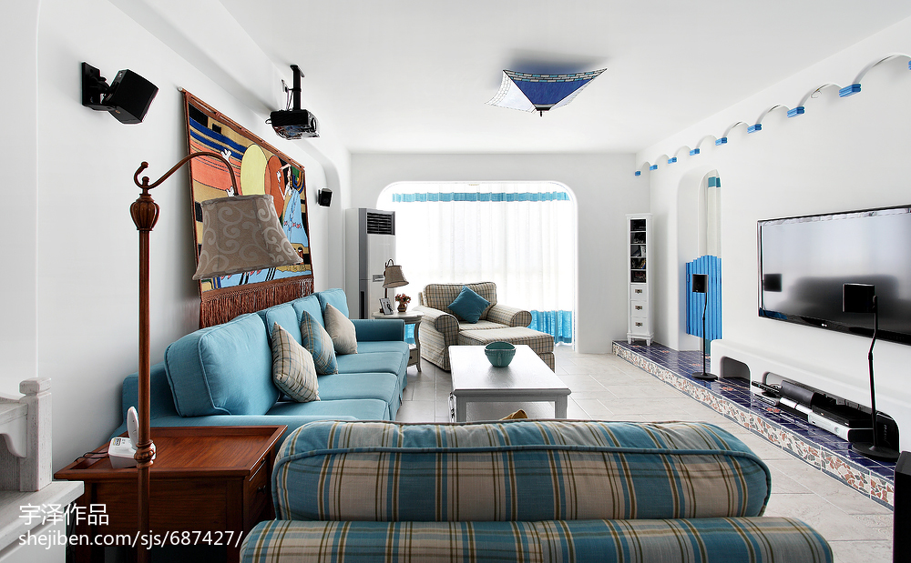 經典地中海風格客廳裝修