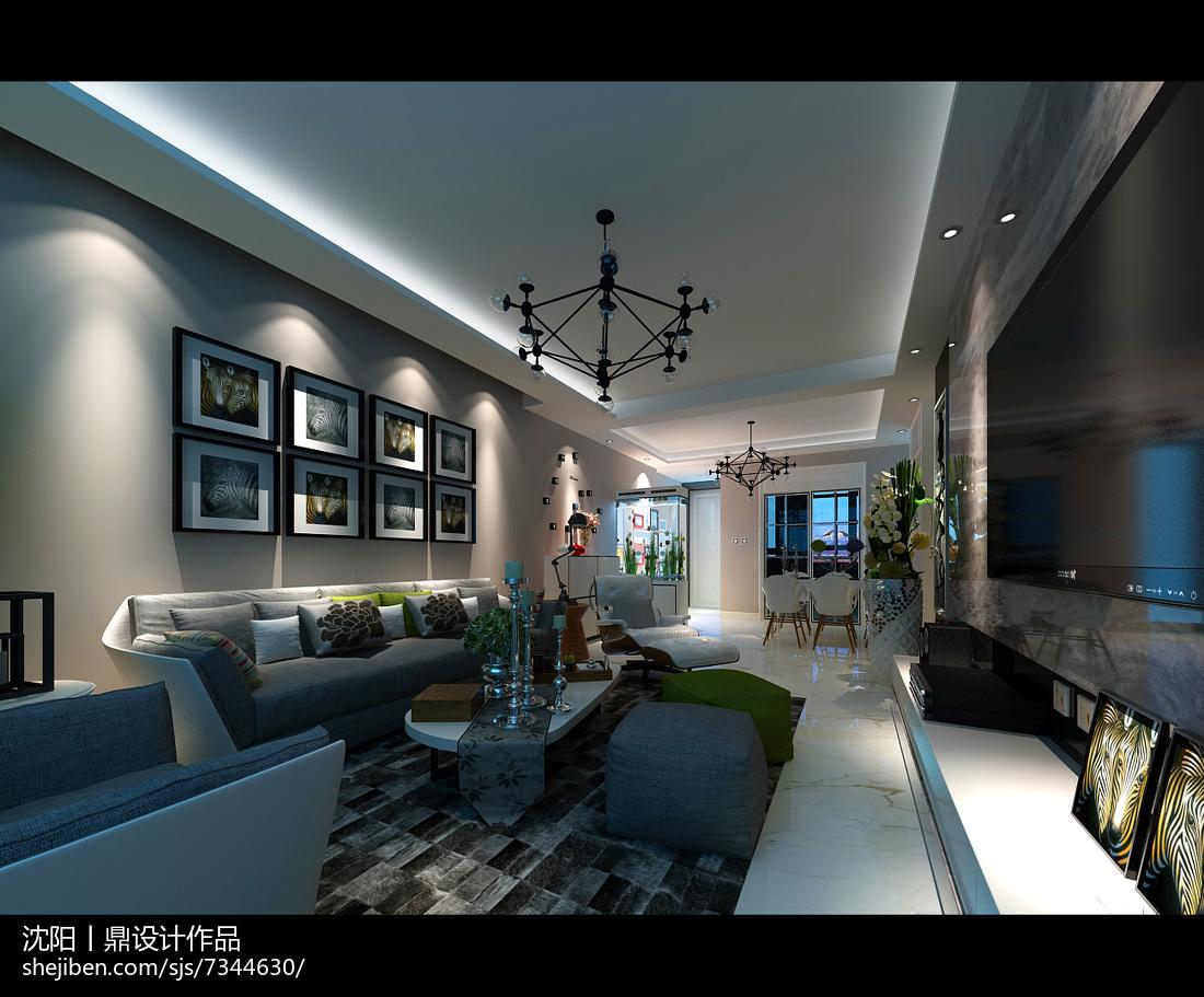 热门面积84平现代二居装修效果图片大全