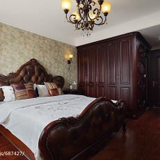 精美面积100平美式三居卧室装修效果图