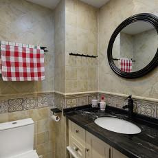 热门138平米四居卫生间美式装修欣赏图片大全
