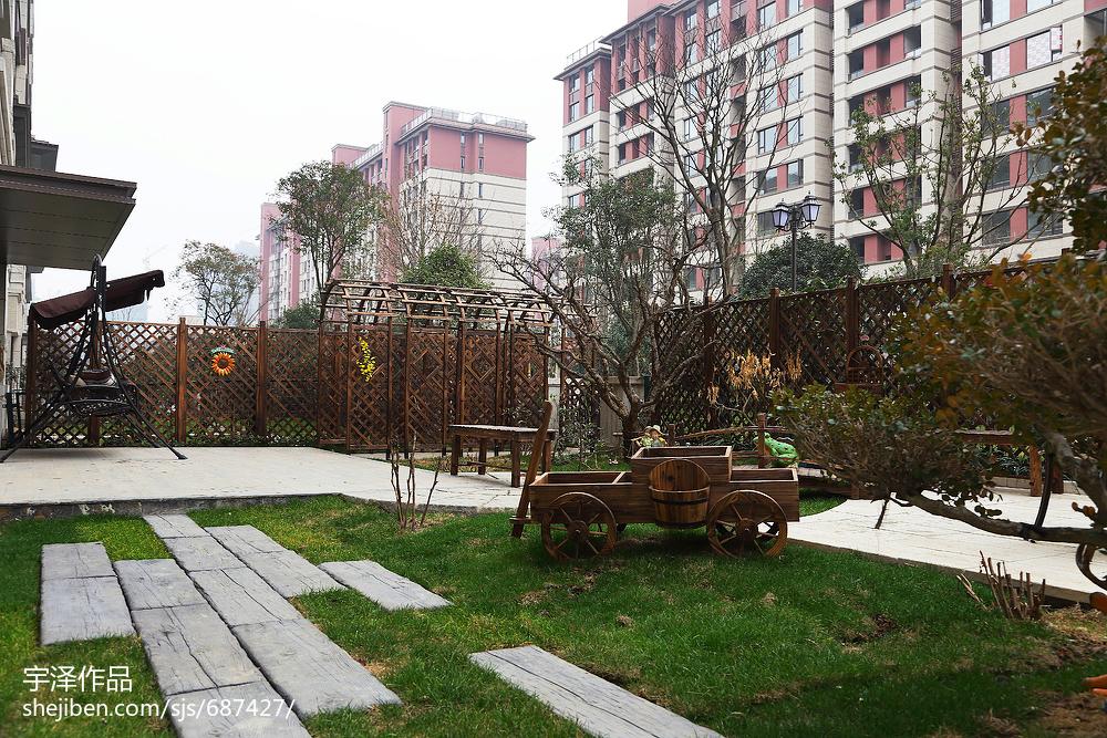 热门美式四居花园设计效果图