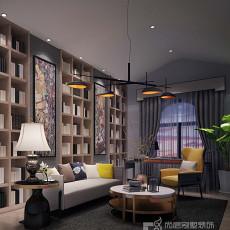2018面积112平别墅书房现代装修设计效果图片