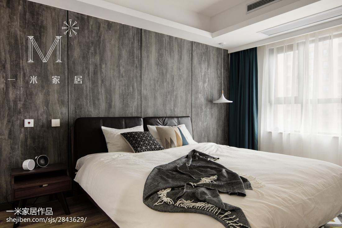 精美面积100平现代三居卧室设计效果图