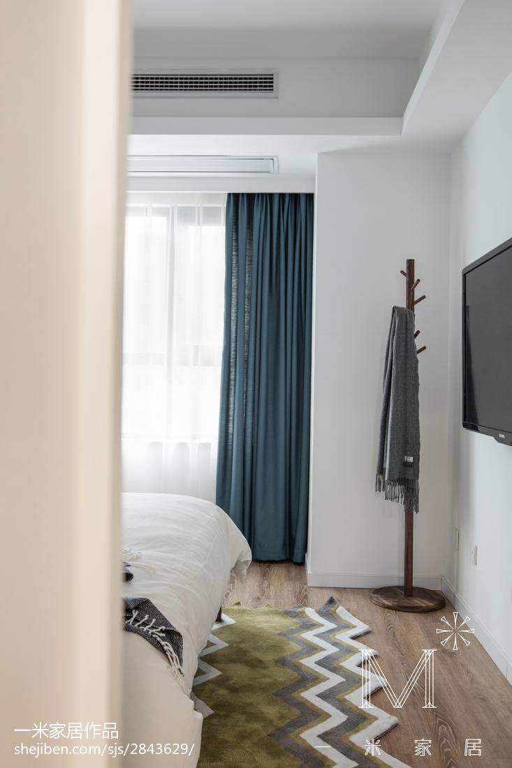 精美107平方三居卧室现代装修效果图