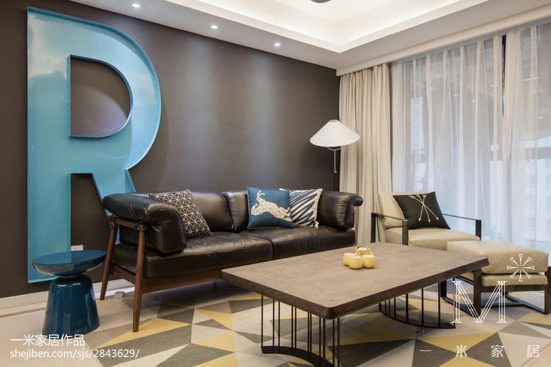 精选104平客厅三居现代装修实景图片