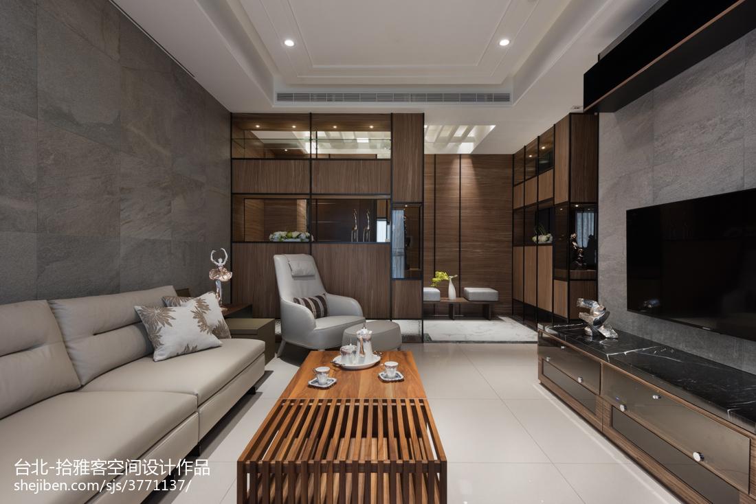 热门面积123平宜家四居客厅实景图