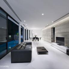 143平米现代别墅客厅装修设计效果图片大全