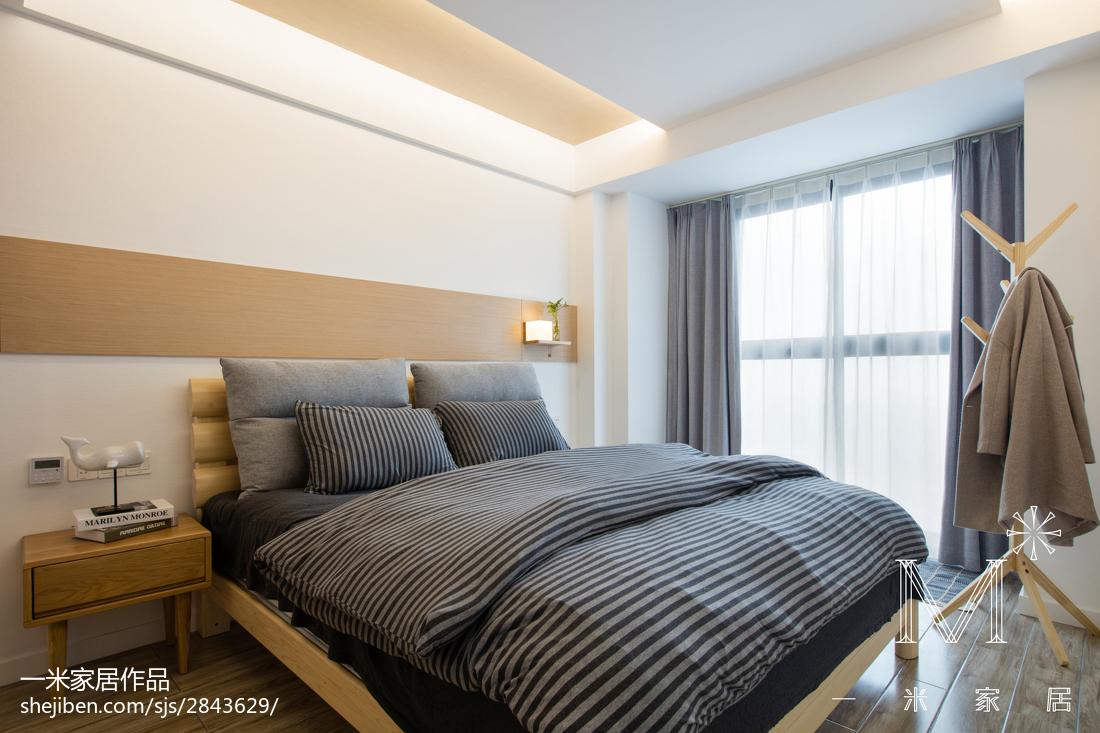 精选面积74平现代二居卧室效果图