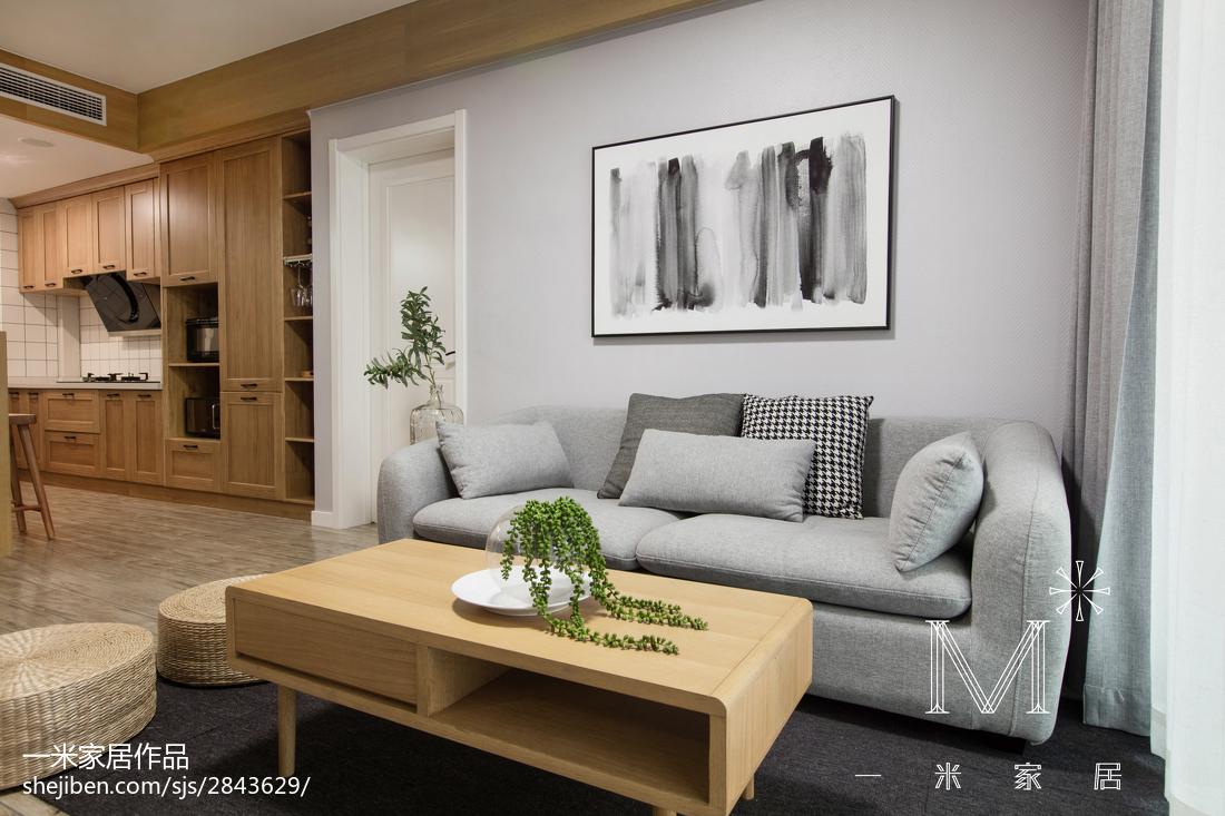 2018精选71平方二居客厅现代实景图片欣赏