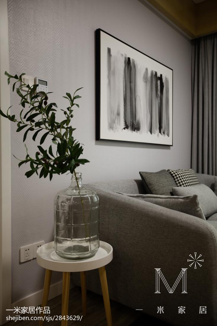 精选大小89平现代二居客厅装修效果图片欣赏