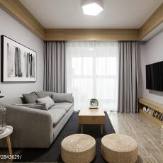 大气74平现代二居装修图
