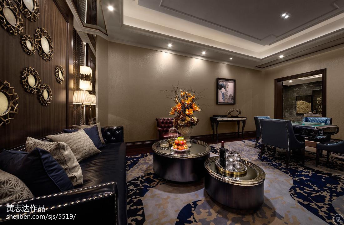 热门120平米欧式别墅休闲区装修设计效果图片