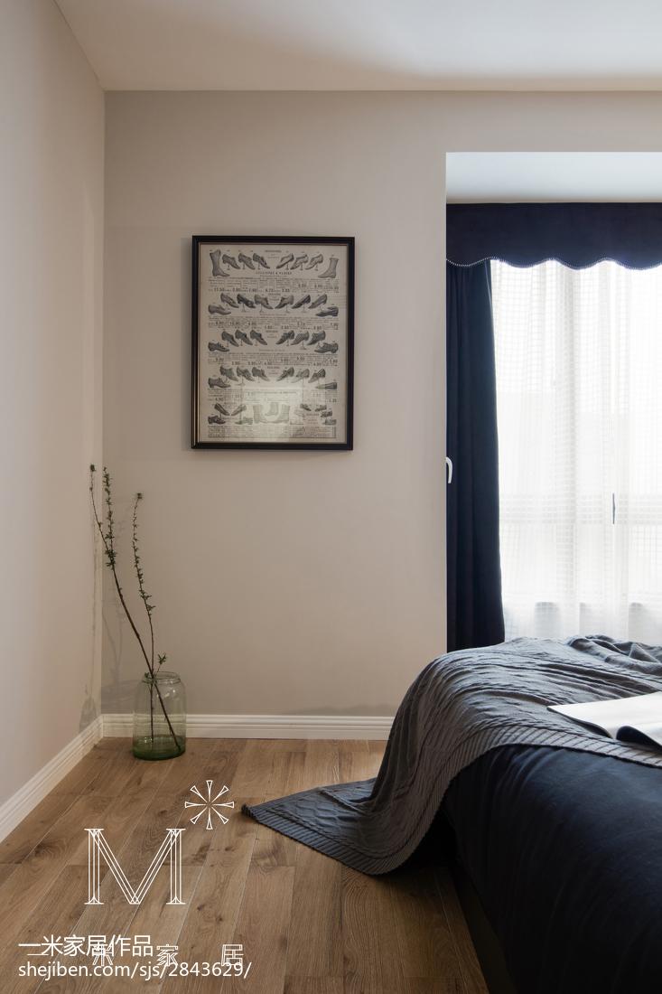 面积101平现代三居卧室效果图