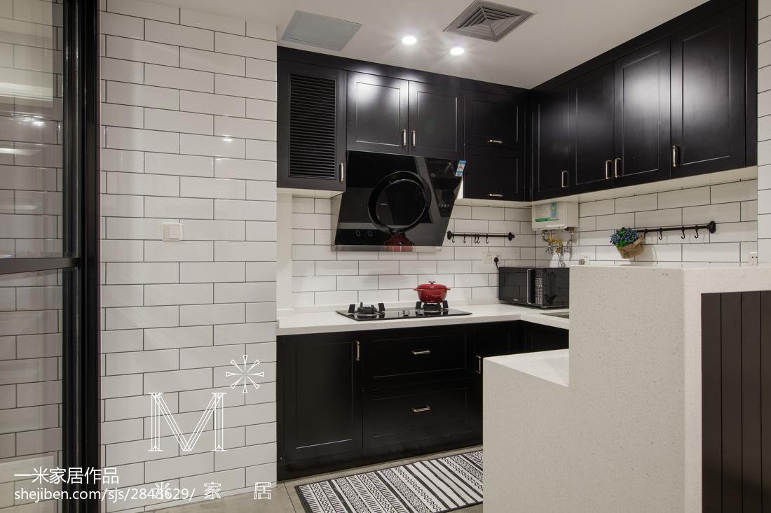 精美105平米三居厨房现代装修实景图片大全