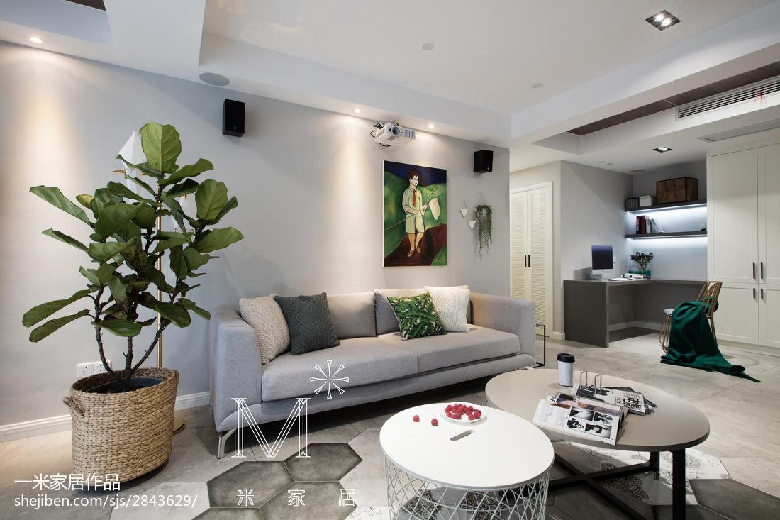 精美98平大小客厅三居现代实景图片