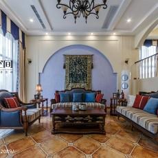 精选面积123平别墅客厅地中海实景图片欣赏