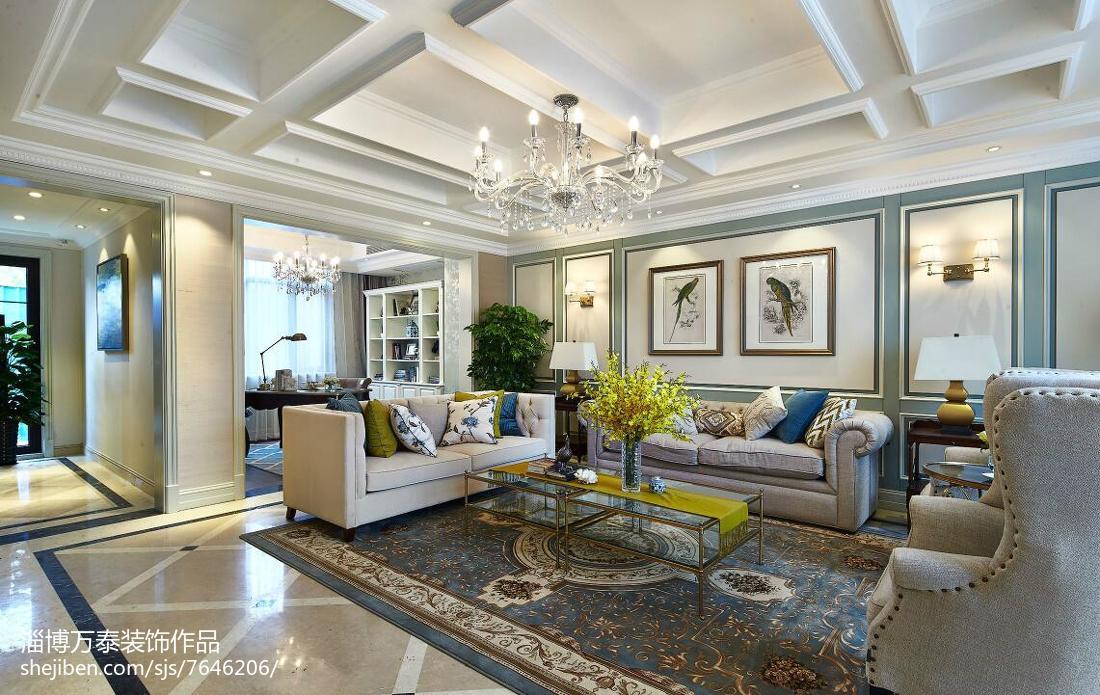 热门新古典复式客厅装修欣赏图