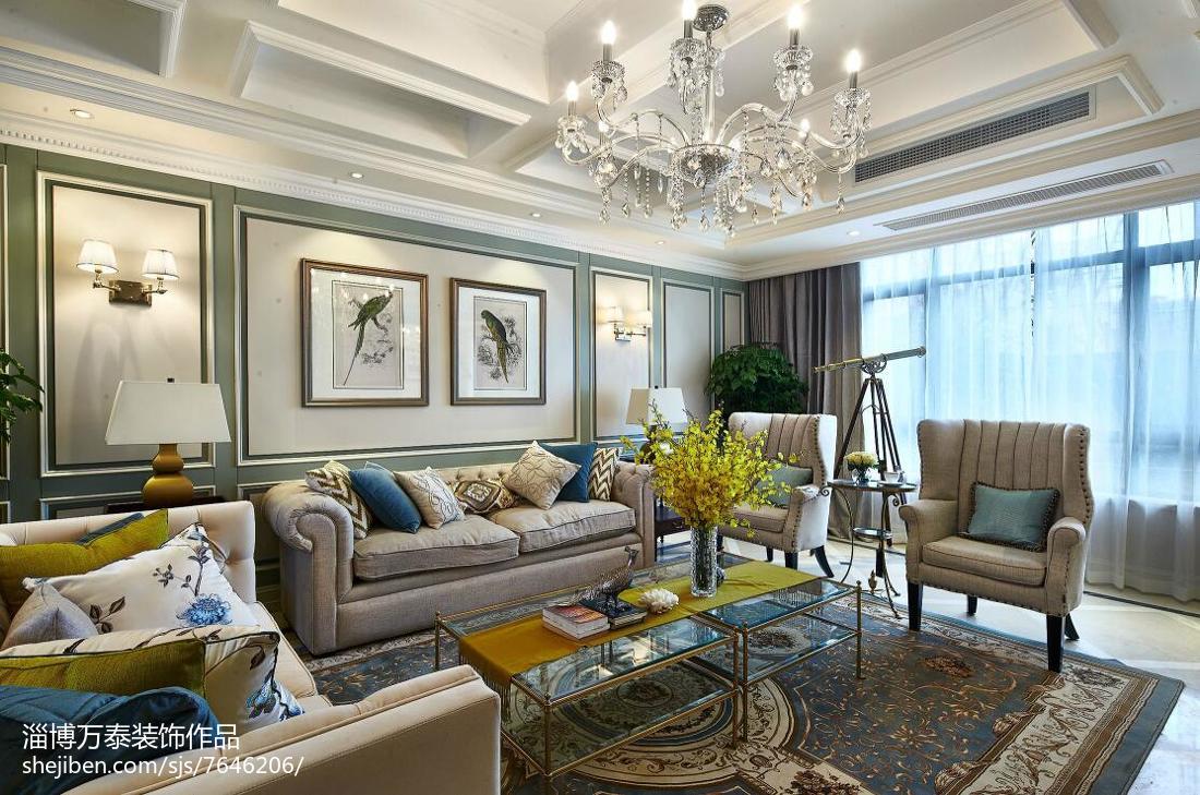 别墅新古典风格客厅效果图