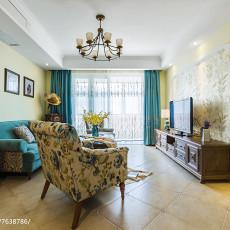 96平米三居客厅美式装修实景图片大全