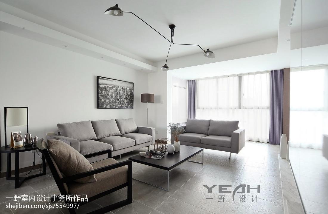 精美102平米三居客厅简约设计效果图