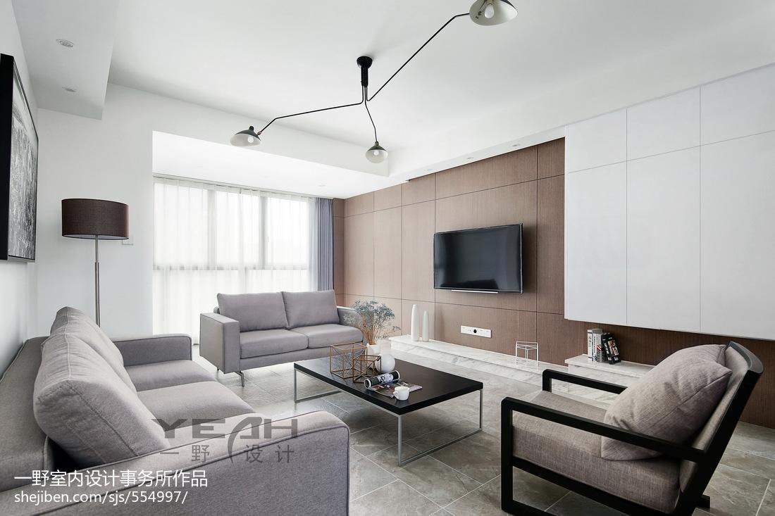 精选96平方三居客厅简约装饰图片大全