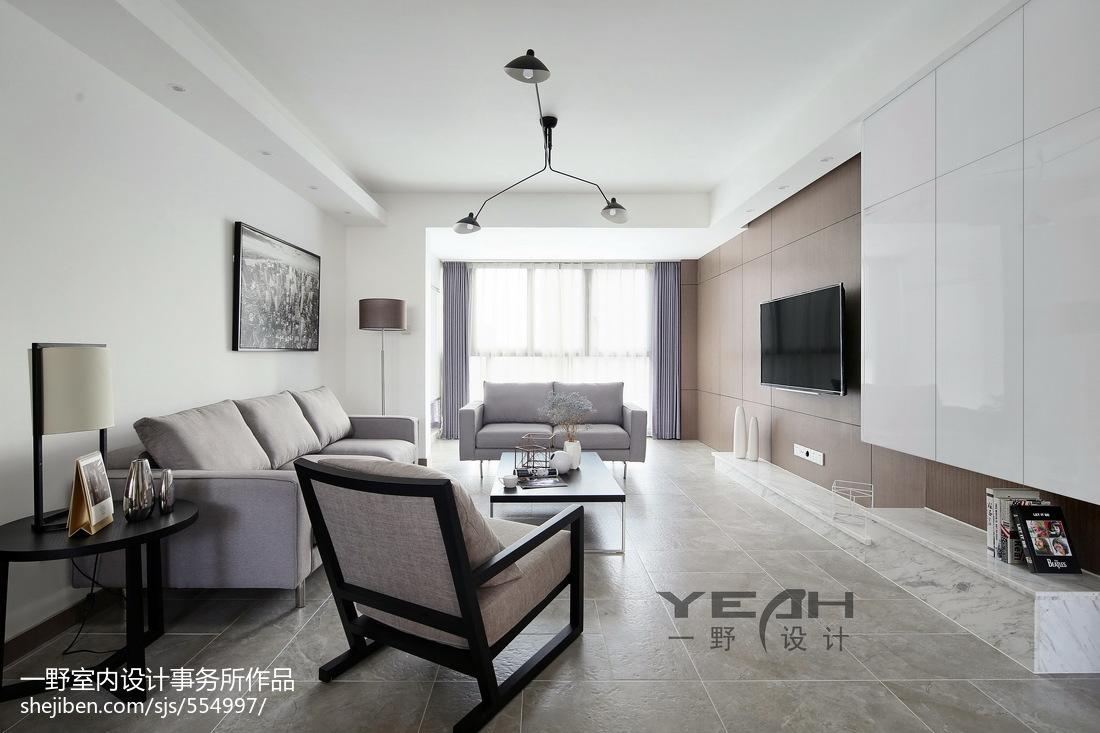 热门面积104平简约三居客厅装修效果图片大全